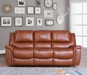 Hudson Leather Reclining Sofa