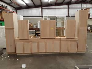 9 Piece East Haven Unfinished Cabinet Set