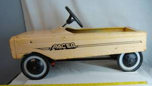 Vintage Metal Pacer Child's Pedal Car - Very Cool Find!!!