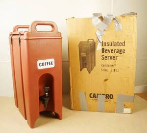 Cambro Insulated 5 Gallon Beverage Server w/ sealing ring