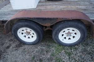 Utility Trailer - Dove-Tail Flat Bed Trailer - 16ft - Clean Kansas Title Included! W/ RAMPS!