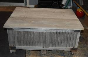 Vintage Apple Crate Box Coffee Table - Very Rustic and Beautiful!