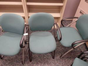 Lot of 3 Office Arm Chairs