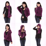 Amazing Magic Scarf, Multifunction Scarf, Red - 6 pieces