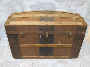 Vintage Wooden Trunk or Chest
