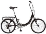 Schwinn Foldable Bicycle Loop Cruiser, Black, Used, Chain Comes Off Gears While Riding, 7 Gears