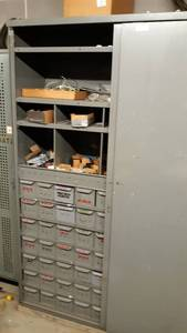 Metal Cabinet w/ Tool or Parts Bin Drawers