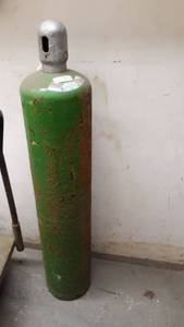 Single Green Gas Bottle