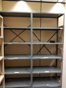 Double Metal Storage Shelves