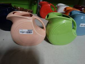 Lot of 2 Fiesta 67-1/4-Ounce Large Disk Pitchers