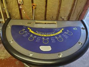 Casio Black Jack Table- Commercial Grade From Kansas City Casino-  Less Than 2 Years Old
