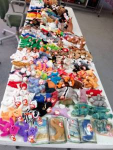 HUGE LOT of Unsearched/Unresearched  Beanie Babies- 175 Total!!!
