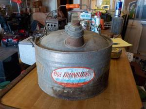 Old ironside gas can