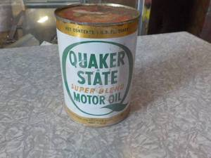 vintage quaker state motor oil can 1qt