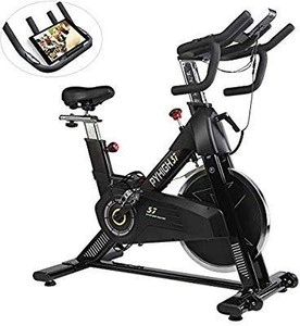 PYHIGH Indoor Cycling Bike-48lbs Flywheel Belt Drive Stationary Bicycle