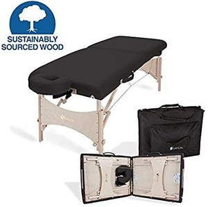 EARTHLITE Portable Massage Table HARMONY DX – Eco-Friendly Design, Hard Maple, Superior Comfort, Deluxe Adjustable Face Cradle, Heavy-Duty Carry Case (30  x 73 )