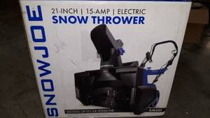 Snow Joe Ultra 21  15-AMP Electric Snow Thrower, Used, Untested, Blue