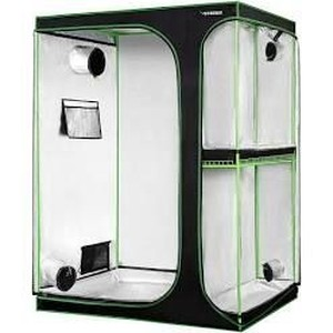 "VIVOSUN 2-in-1 60""x48""x80"" Mylar Reflective Grow Tent for Indoor Hydroponic Growing System, New"