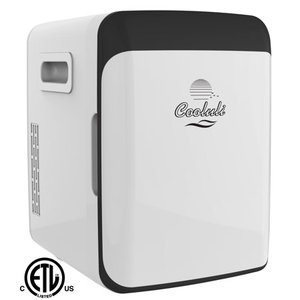 Cooluli Electric Mini Fridge Cooler and Warmer (15 Liter / 15 Can): AC/DC Portable Thermoelectric System (White), New