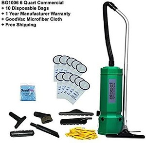 Bissell Commercial 6 Quart Backpack Vacuum High Filtration w/10 Pack Bag