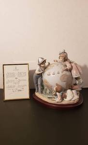 "Lladro #5847 The Voyage of Columbus, 9.5"" Tall x 9.75"" Wide x 7"" Deep  w/wood base - with original box #5752/7500"