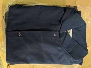 1 Pack Of Six Navy Butcher Coats Size XL
