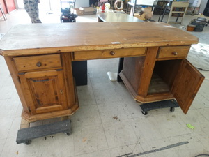 Solid wood executive desk- Mike Pompeo Home office desk-