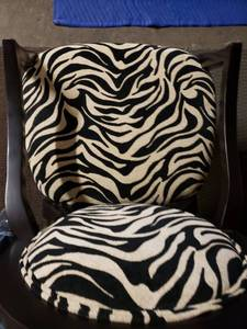 Gorgeous Wood Zebra Style Sitting Chair