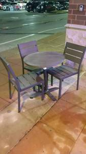 Patio Table with Three Chairs