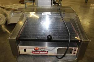 Commercial Electric 30 Hot Dog Roller Grill Cooker Machine 1200-Watt w Cover