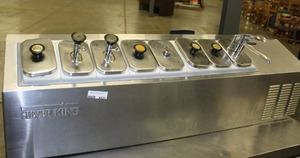 Silver King Refrigerated Topping Rail - Countertop