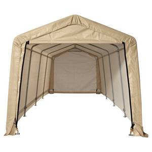 10 ft. x 20 ft. Auto Storage Shelter - Tan