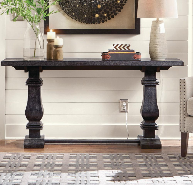 Aldridge Washed Black Console Table by Home Decorators Collection