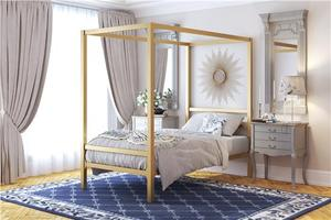 Modern Canopy Bed (TWIN)