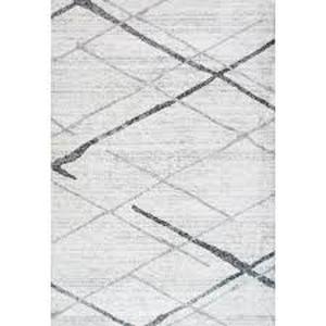 nuLOOM Thigpen Modern Striped Gray  Area Rug