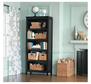 "72"" Carson 5 Shelf Bookcase, Ebony - Threshold"