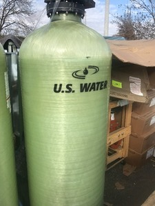 New large fiberglass tank 24 inches round by 72 inches tall built-in stand use your imagination high dollar tank