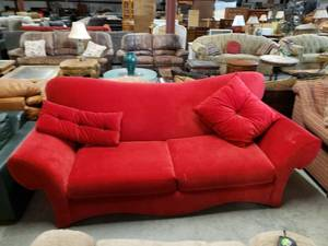 Cherry Red Sofa - Model Home Display