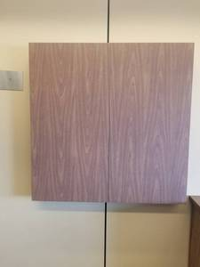 Wall Mount White Board/Bulletin Board and Hidden Mount Projector Screen
