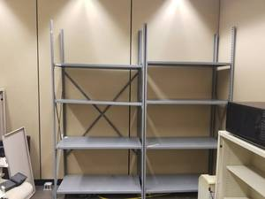 Two Industrial Shelving Units