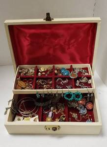 Lot of Jewelry and Jewelry Box
