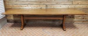 Beautiful Large Heavy Wood Country Farm Table ~ Mortise and Tenon Joint Frame ~ 10 ft. x 3 ft. x 30 in.