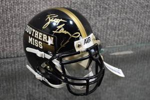 Autographed Mini Football Helmet #4 Brett Favre Southern Miss COA - WILL SHIP