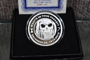 "Rare 1 oz. .999 Silver Proof Round ""The Reaper"" w. C.O.A. - WILL SHIP"