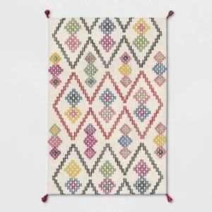BRAND NEW 5ft x 7ft MultiColored Geometric Tassled Area Rug