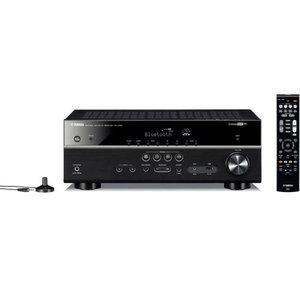 Yamaha RX-V483BL 5.1-Channel 4K Ultra HD MusicCast AV Receiver V483 Home Theater Audio Video