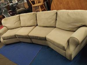 2 Piece Curved Tan Sectional