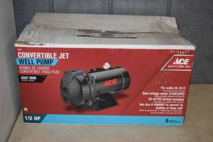 Ace Convertible Jet Well Pump 1/2 hp