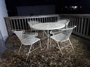 5 Piece Expanded Metal Patio Set