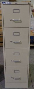 Hirsh 4 Drawer Vertical File Cabinet